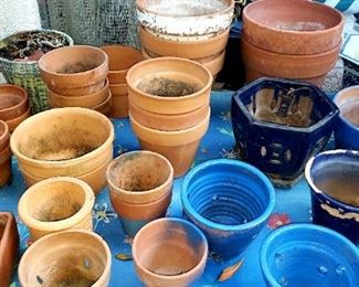 Assorted Planter Pots $5.oo-20.oo For Appointment Please Call (760)662-7662  or Email tanya@crowncityestatesalebytanya.com