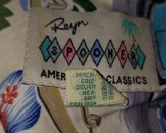 Reyn Spooner Shirts $20-35.00 each Sizes Med., Large & Extra Large For Appointment Please Call (760)662-7662  or Email tanya@crowncityestatesalebytanya.com