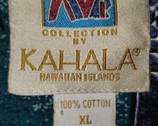 Kahala  Shirts $20-35.00 each Sizes Med., Large & Extra Large For Appointment Please Call (760)662-7662  or Email tanya@crowncityestatesalebytanya.com