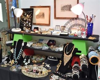 The jewelry table is LOADED