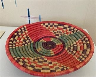 f ethnic  woven bowl $20.00