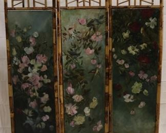 Lot# 2089 - Bamboo with hand painted screen