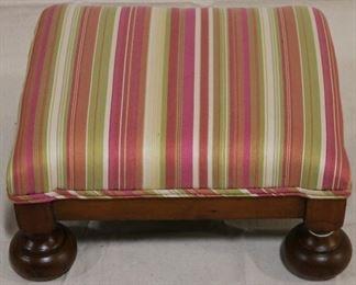 Lot# 2094 - Bunn foot upholstered foot stool