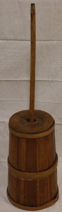 Lot# 2095 - Wooden antique butter churn