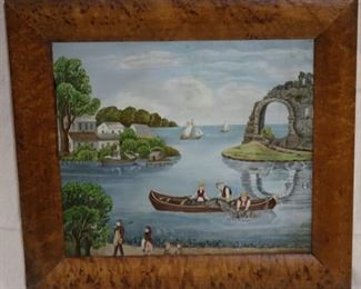 Lot# 2098 - Early Oil on Canvas Painting