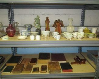 Books and glassware