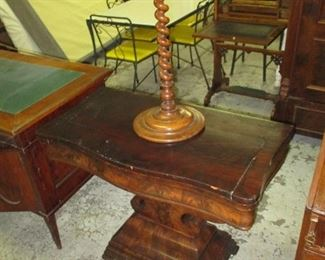 Antique flip table and plant stand