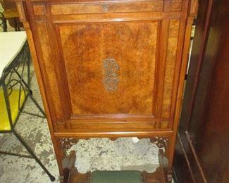 Antique drop front vanity