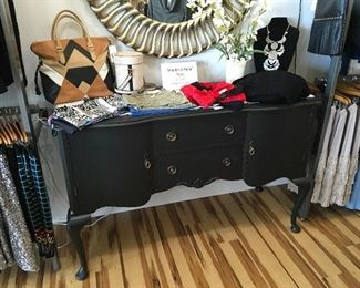 nice sideboard for sale!  and the mirror above it...