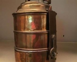 Copper tiered container
