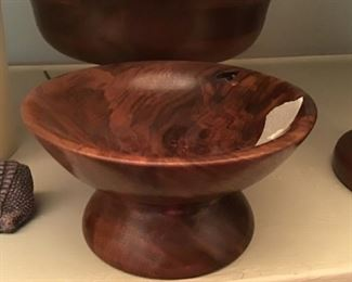 Wooden walnut bowl