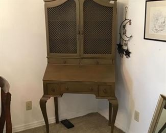 Vintage Secretary with doors closed