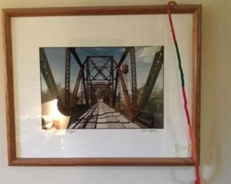 Framed picture - Judsonia Bridge