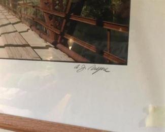 Signature on framed Judsonia Bridge print