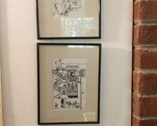 Drawings - framed