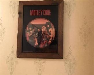 Motley Crue framed picture