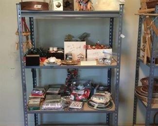 Christmas items on shelf