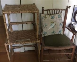 Chair and 2 of the stools