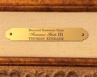 Beyond Summer Gate Print Thomas Kinkade