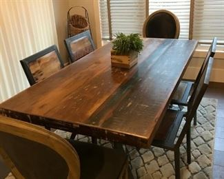 Beautiful Distressed Dining Table with 6 chairs