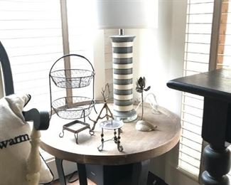Round wood and metal Side table (Table SOLD)