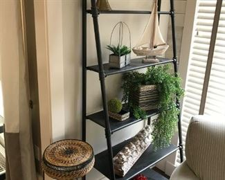 """Industrial Look"" Ladder Bookcase / Display Shelf"