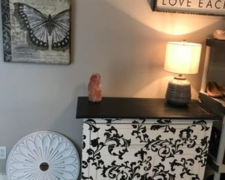 Floral painted Dresser and Decor