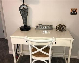 Cream Writing desk with chair