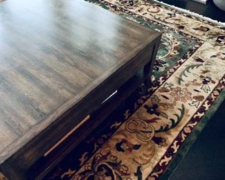 Detail: Side view of Bausman coffee table