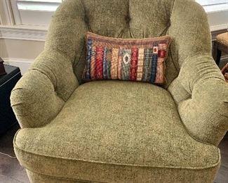 """$750 Pair Custom tufted back club chair.  33.5""""H x 36""""D x 31""""W"""