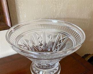 Detail; Lead crystal millennial cut glass bowl.