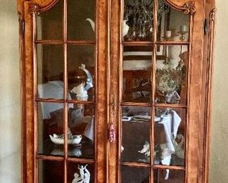 "$1,200 Baroque curio cabinet 88""H x 17""D x 45""W"