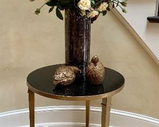 """$295 Federal style, marble top 3 leg table approx. 25.25""""H x 22""""D"""