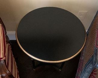 """Detail:  Hickory Chair """"Frances"""" side table"""