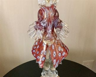 "$60 Vintage Murano glass figurine.  17.25""H"