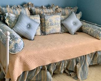 Custom linens (bed skirt, blanket, bolsters and pillows.  Daybed NOT for sale.