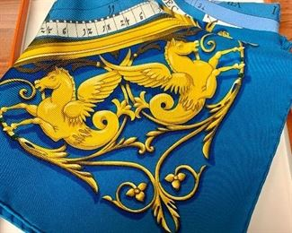 $325 Hermes silk Zodiac scarf new in the box