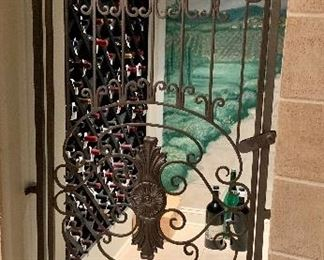 """$495 Wrought iron gate available in RED 79""""H x 33.5""""W"""