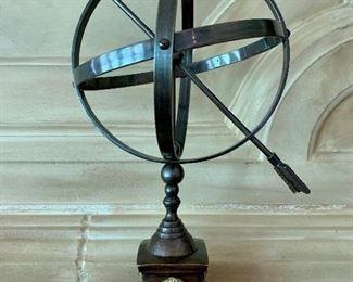 "$40 Decorative Armillary Sundial; 15""H"