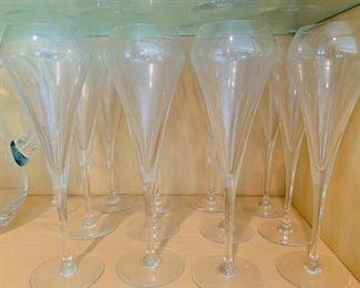 $80  Set of 12 Champagne glasses.