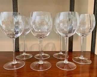 "$70 Set of 7 ""optique"" wine glasses (white)"