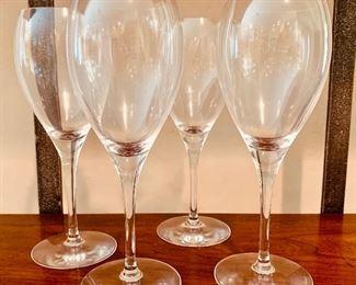 $120 Set of 4 Cristofle wine glasses.  Marked.