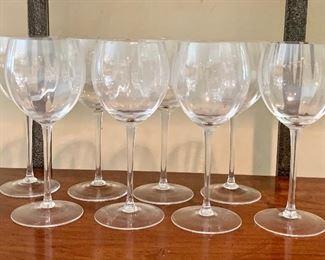 "$80 Set of 8 ""optique"" wine glasses (red)"