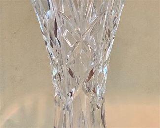 "$60 Waterford Kilrane Crystal Vase ; Approx 11"""