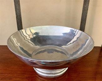 $20 Metalware  Bowl: 11 diameter; 5 inches high; base is 5.25 diameter.