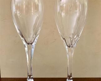 $70 Set of 2 Baccarat glasses. Signed.