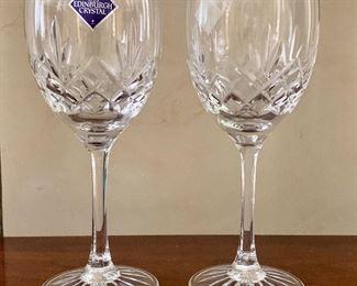 $20 Set of 2 Edinburgh Cut glass crystal wine glasses