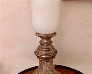 "$50 Hurricane lamp; 19.5""H"