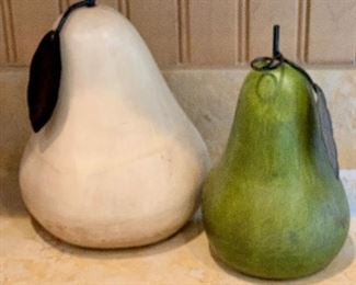 "$32 Set of 2 decorative fruit; Large 12""H, medium 10""H"