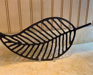 "$20; Decorative metal leaf shaped trivet.  Approx 13"" long"